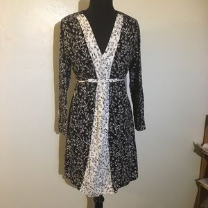 Liz Claiborne Black and White Dress 14/16 Large